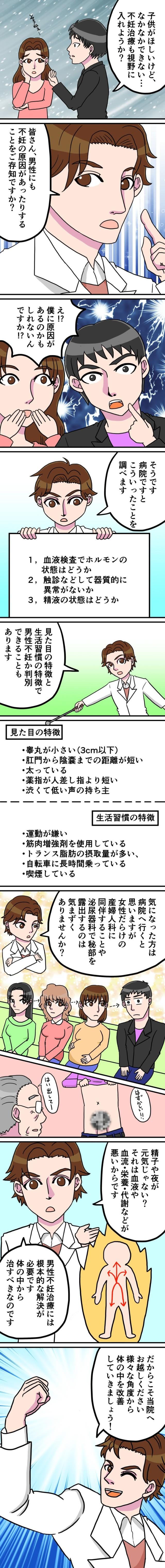 【男性不妊】見た目5つの特徴、生活習慣5つの特徴